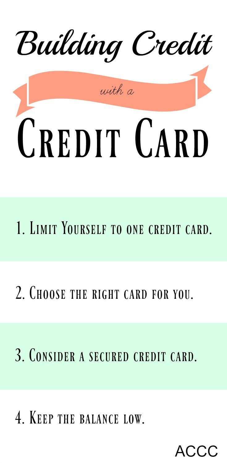 tuesday tip: build credit with a credit card | credit & paying off