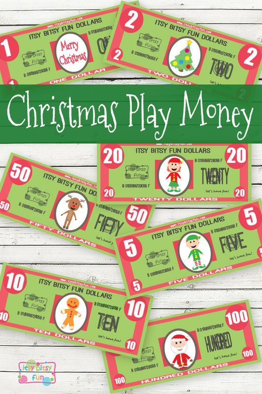 free christmas printable play money christmas crafts free christmas printables printable. Black Bedroom Furniture Sets. Home Design Ideas