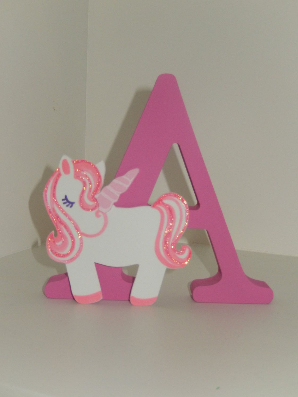 Bedroom Decor Letters unicorn gift, unicorn letters, 3d letters with handmade unicorns