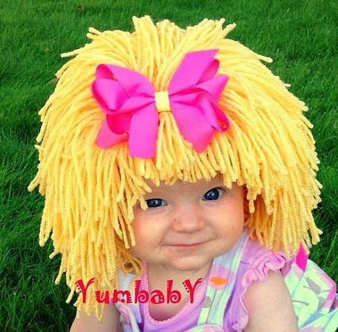 """Детская шапочка """"Копна волос"""""""