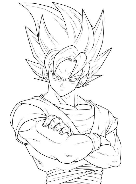 print goku | Goku Coloring Pages » goku coloring pages (10): | goku ...