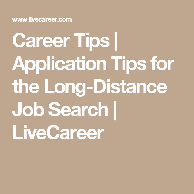 long distance job search