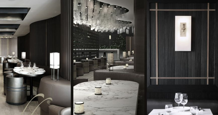 the beef bar designed by tony chi modern restaurant. Black Bedroom Furniture Sets. Home Design Ideas