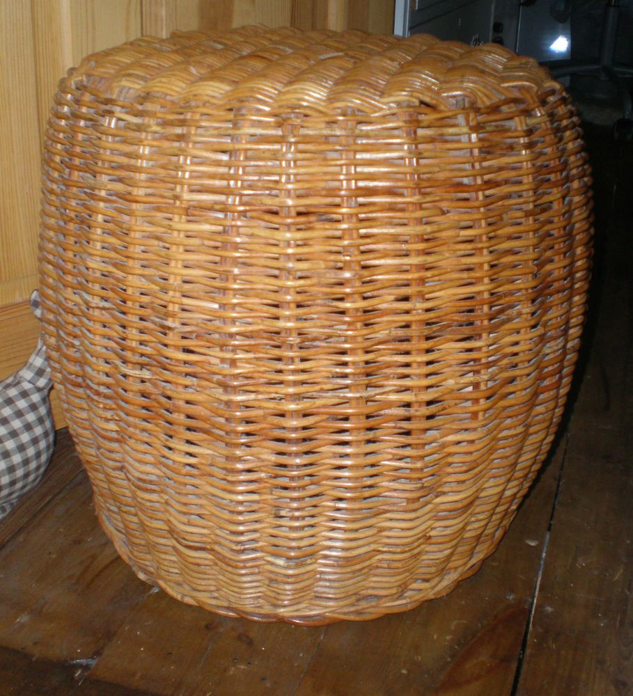 ~IKEA WICKER STOOL/ SMALL TABLE ~DRUM SHAPE ~STURDY