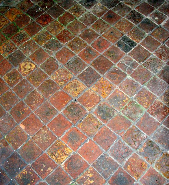 St Andrew\'s church, Barton Bendish, Norfolk - medieval floor tiles ...