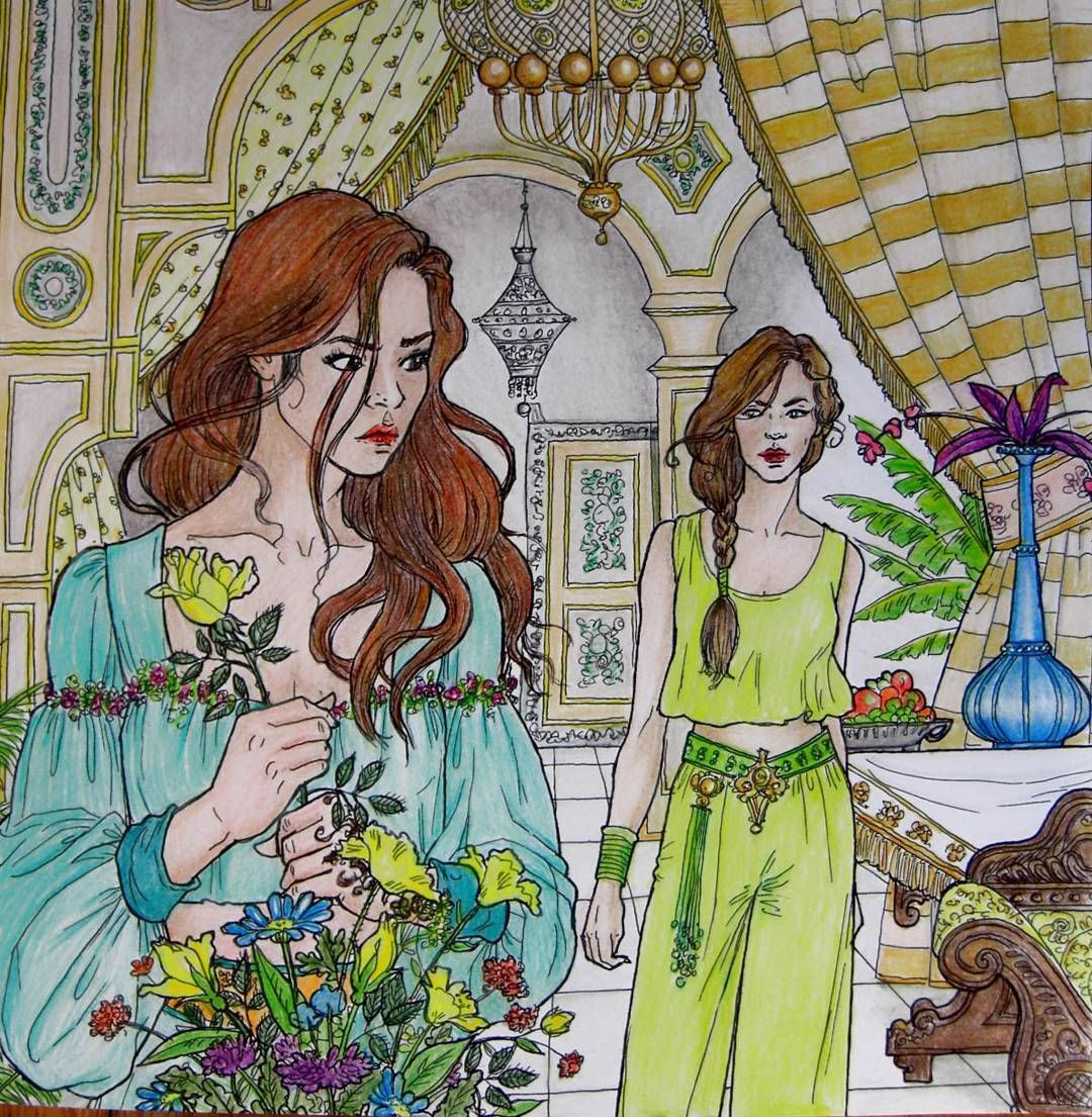 D Etre And Morrigan From A Court Of Thorns And Roses Coloring Book