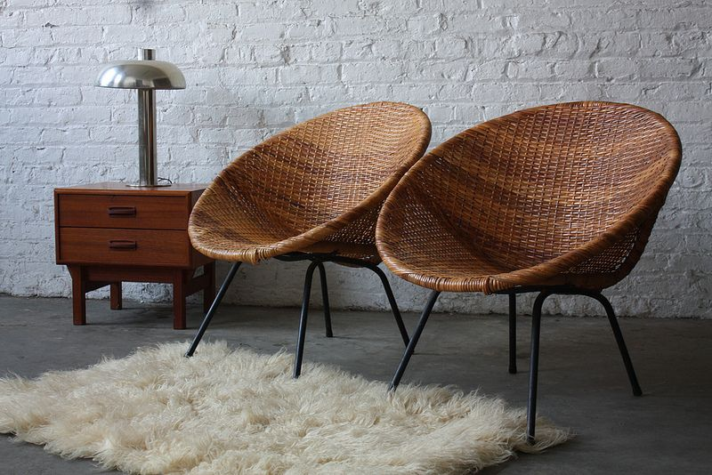 classic mid century modern woven hoop chairs 1950s flickr photo sharing - Mid Century Modern Furniture Of The 1950s