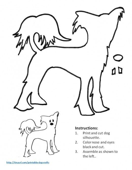 Printable Dog Patterns With Simple Shapes for Kidsu0027 Crafts - missing pet template