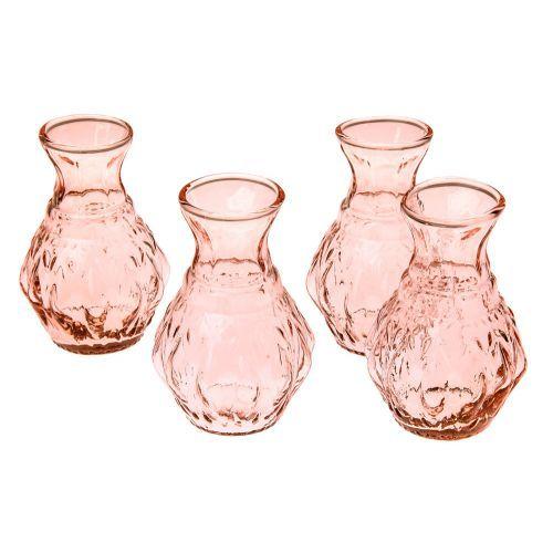 Our Vintage Pink Vintage Pink Bernadette Mini Glass Vase Set Of 4