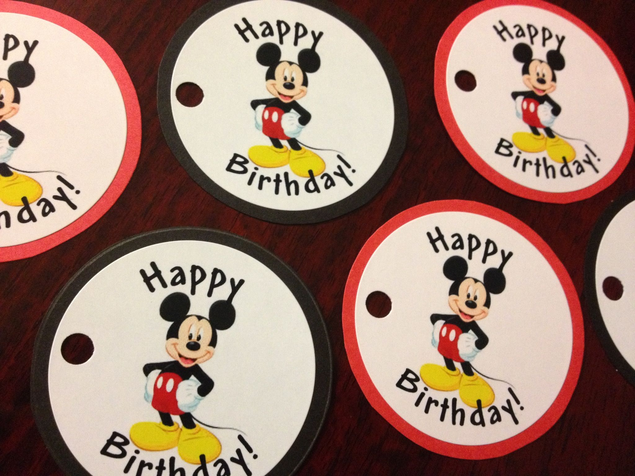 Mickey Mouse Cake Pops Favor Tags Can be personalized to suit your event! $17 for up to 2 dozen (additional for more than 24) www.misslulussweettreats.com