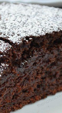 Moist Chocolate Cake (No Eggs, No Butter) Recipe