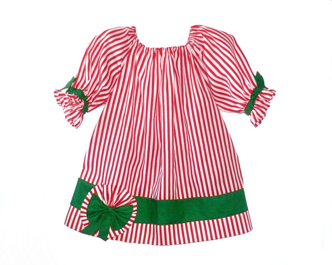 4dda1bb37 Girls Christmas Dress Outfit Kids Baby Toddler Peppermint 2t 3t 4t 5 6  handmade Ready to ship in most sizes. $26.00, via Etsy.