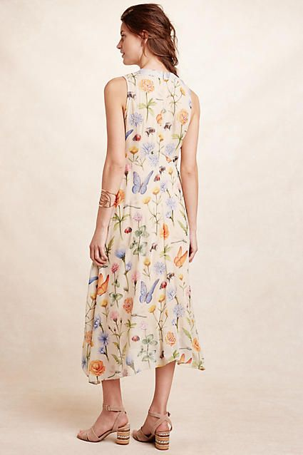 Butterfly Garden Midi Dress - anthropologie.com