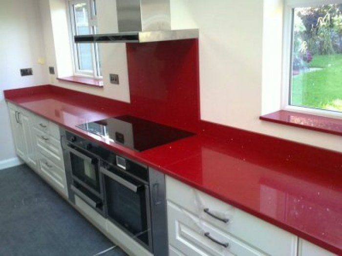 Red Quartz Kitchen Worktop Kitchen Worktop Interior Kitchen