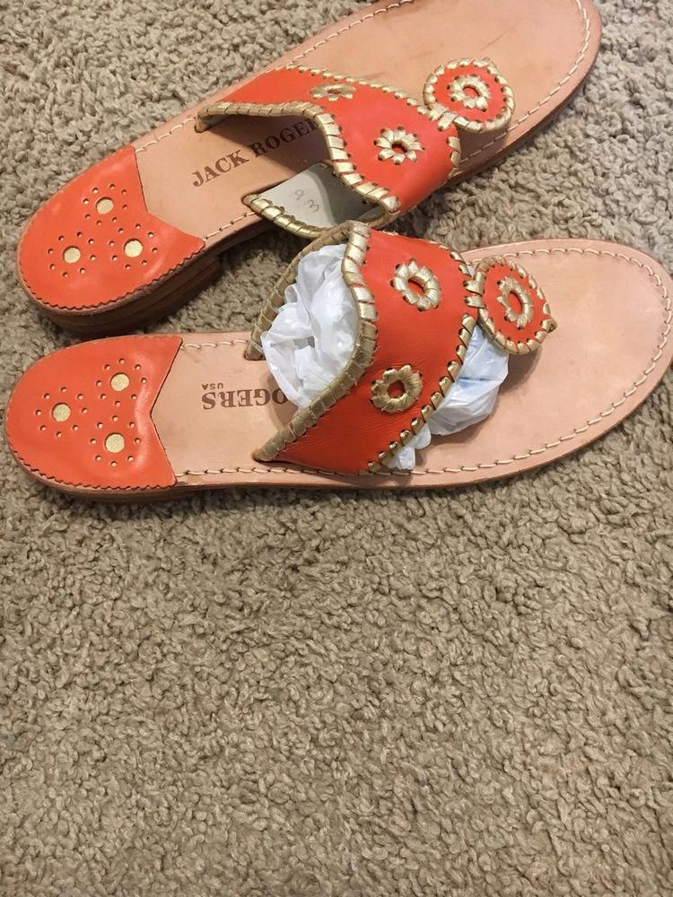 628ee3a7e1f4 Jack Rogers Orange And Gold Size 9  fashion  clothing  shoes  accessories   womensshoes  sandals (ebay link)  Womensshoes9.5Narrow