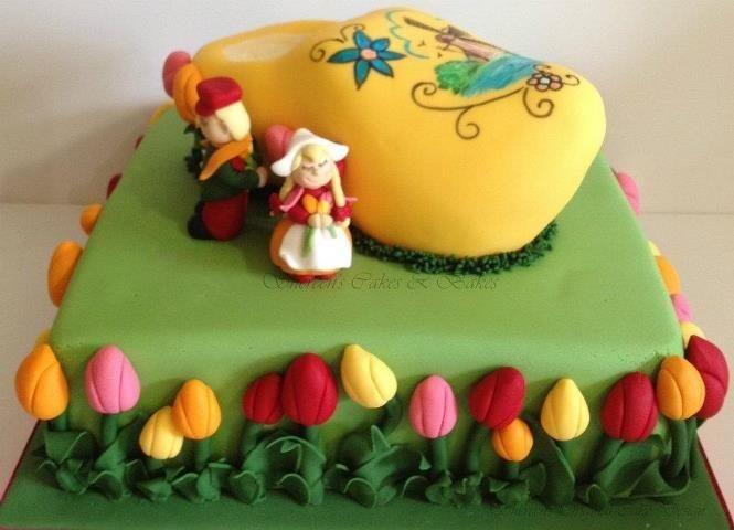 Dutch Themed 90th Birthday Cake By Shereen Van Gogh Themed 100th
