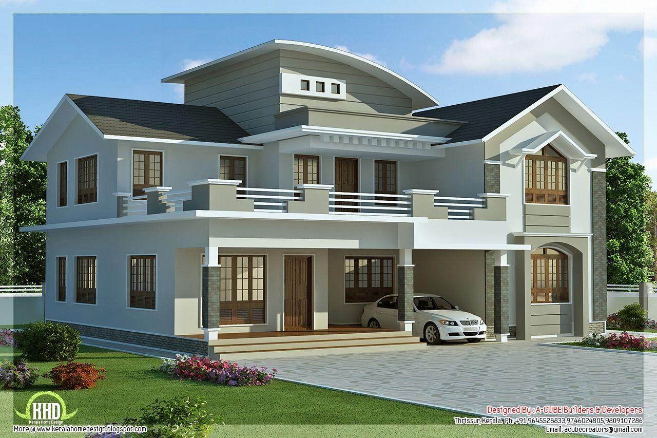 4 Bedroom Modern House Plans New 2960 Sq Feet 4 Bedroom Villa Design In 2020 Minecraft Modern House Blueprints Modern House Facades Modern Minecraft Houses