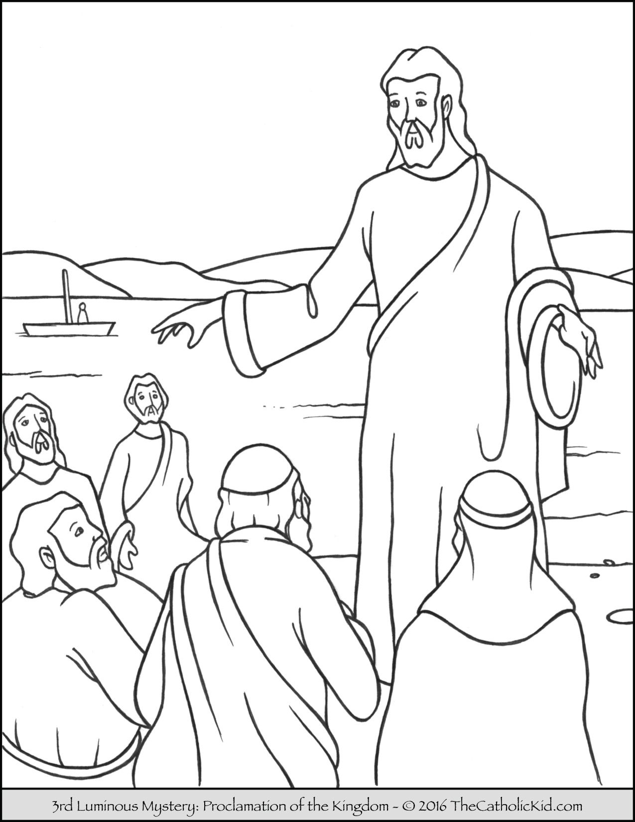 The 3rd Luminous Mystery Coloring Page The Proclamation Of The