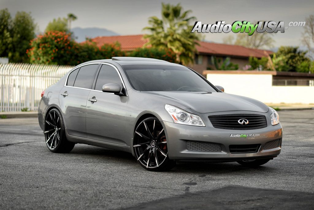 Audiocityusa Com 2007 Infiniti G35 Sedan On 22 Lexani Css 15 Mbt Black Machine Sedan Infiniti Sedan Infiniti