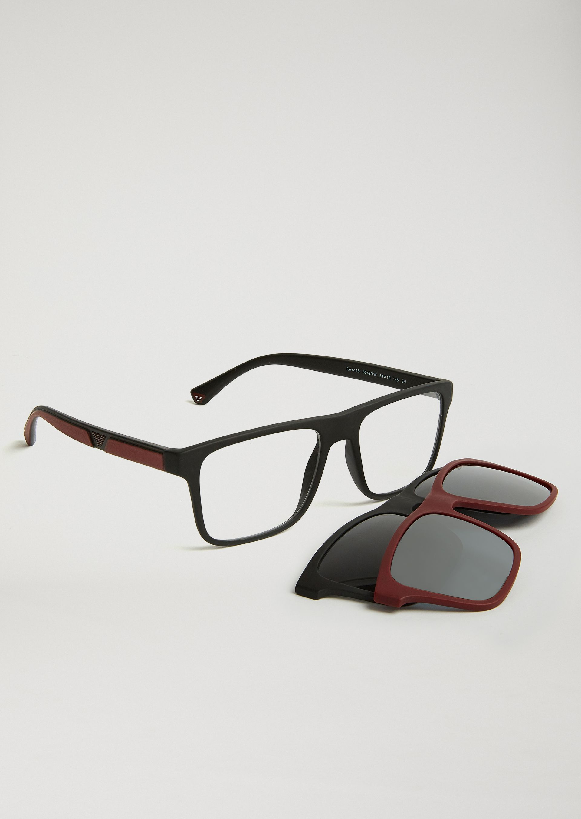 dbbfbf1999ae EMPORIO ARMANI Special Project Glasses With Interchangeable Lenses  Sunglasses Man r