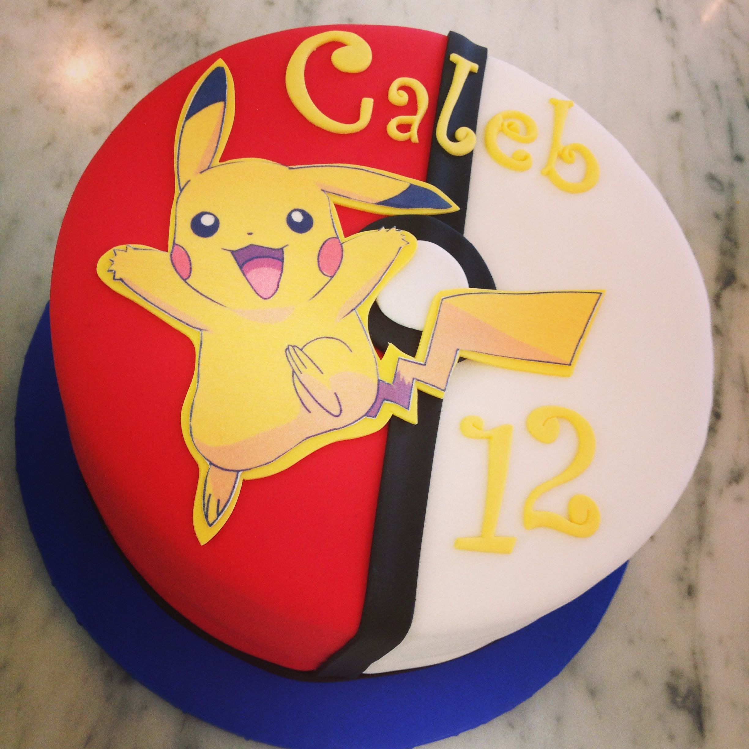 Prime The Pikachu Cake Sweet Marys New Haven Ct Pokemon Birthday Personalised Birthday Cards Veneteletsinfo