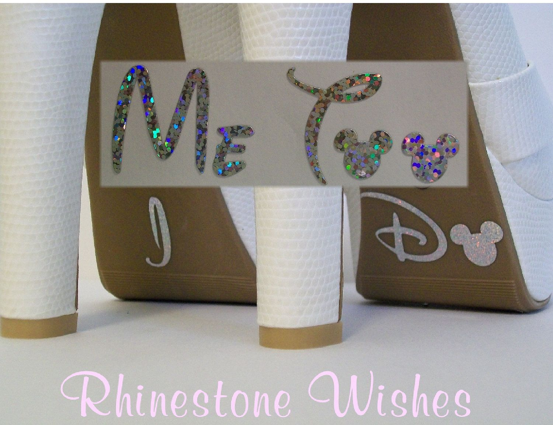Disney I Do And Me Too Shoe Glitter Sticker Wedding Photo Op Bridal Diy Sparkly