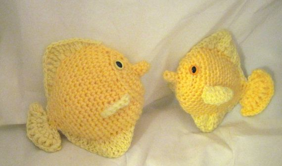 Yellow Tang Crochet Pattern by akuadesigns on Etsy, $3.75