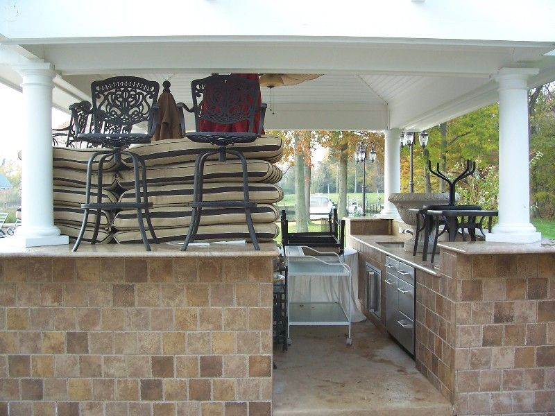 Enclosed Outdoor Kitchens Bar Covers Enclosures Gazebo Shed Custom