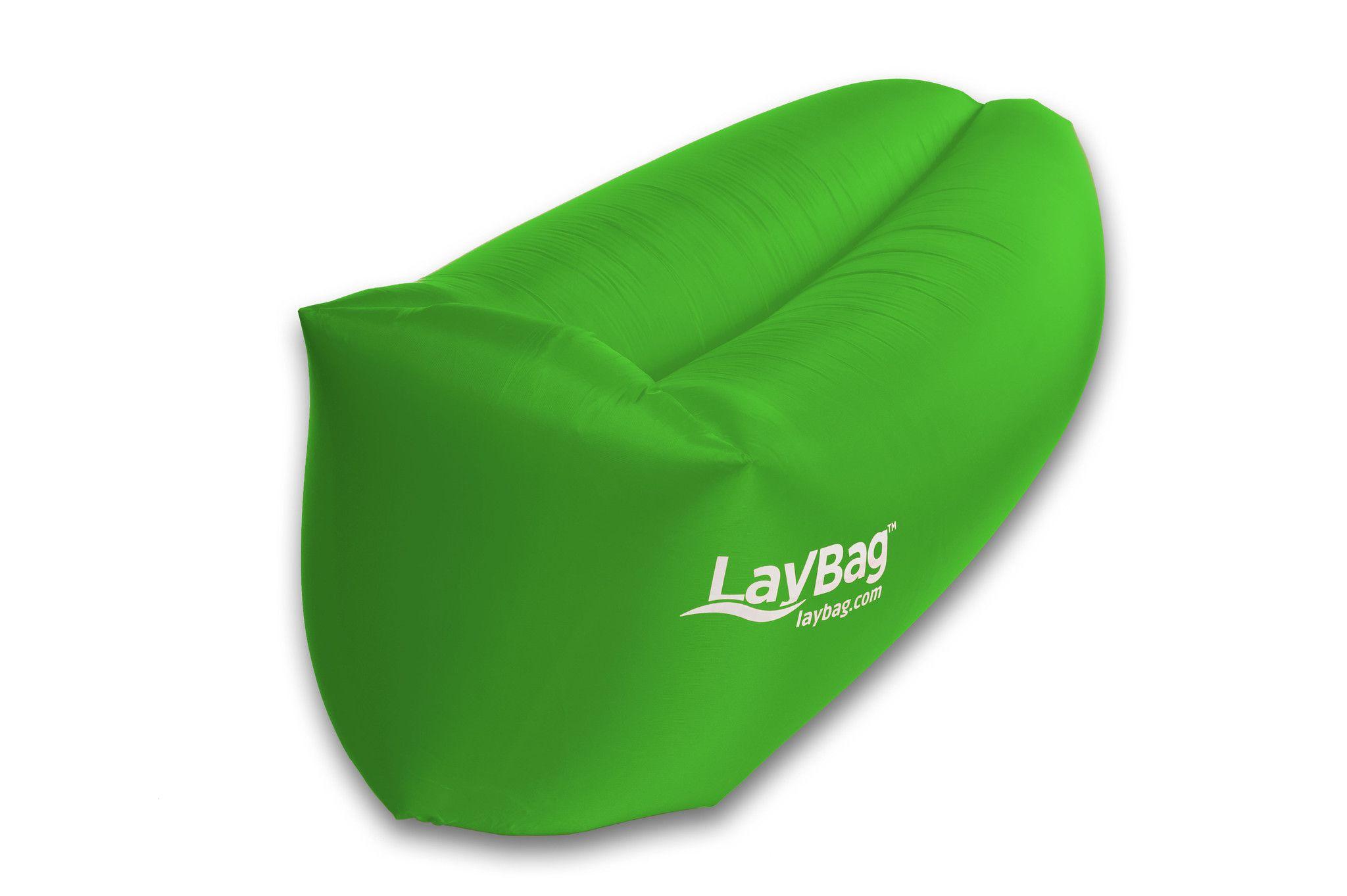 Lay Bag™ GREEN un lit de jardin ou de voyage qui se gonfle sans
