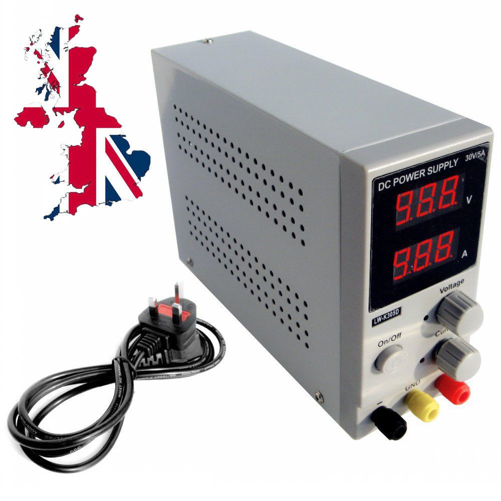 Variable Dual Adjustable Lab Dc Bench Power Supply 0 30v 0 5a K305d Switching Uk