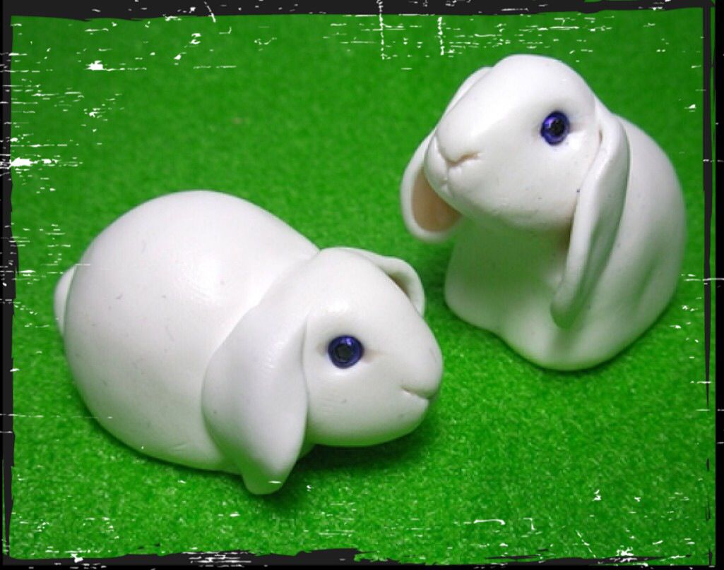 Lop Eared Bunnies Polymer Clay Crafts Polymer Clay