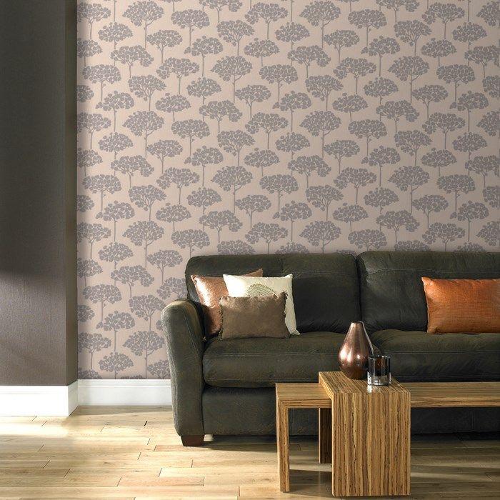Sherwood Beige Wallpaper - Designer Brown Wall Coverings by Graham