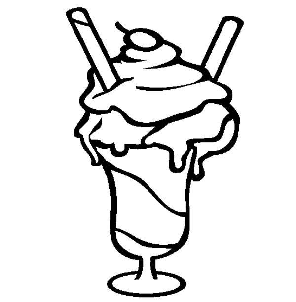 Ice Cream Sundae Serve With Choco Stick Coloring Page Coloring Sky In 2020 Ice Cream Coloring Pages Ice Cream Sundae Coloring Pages