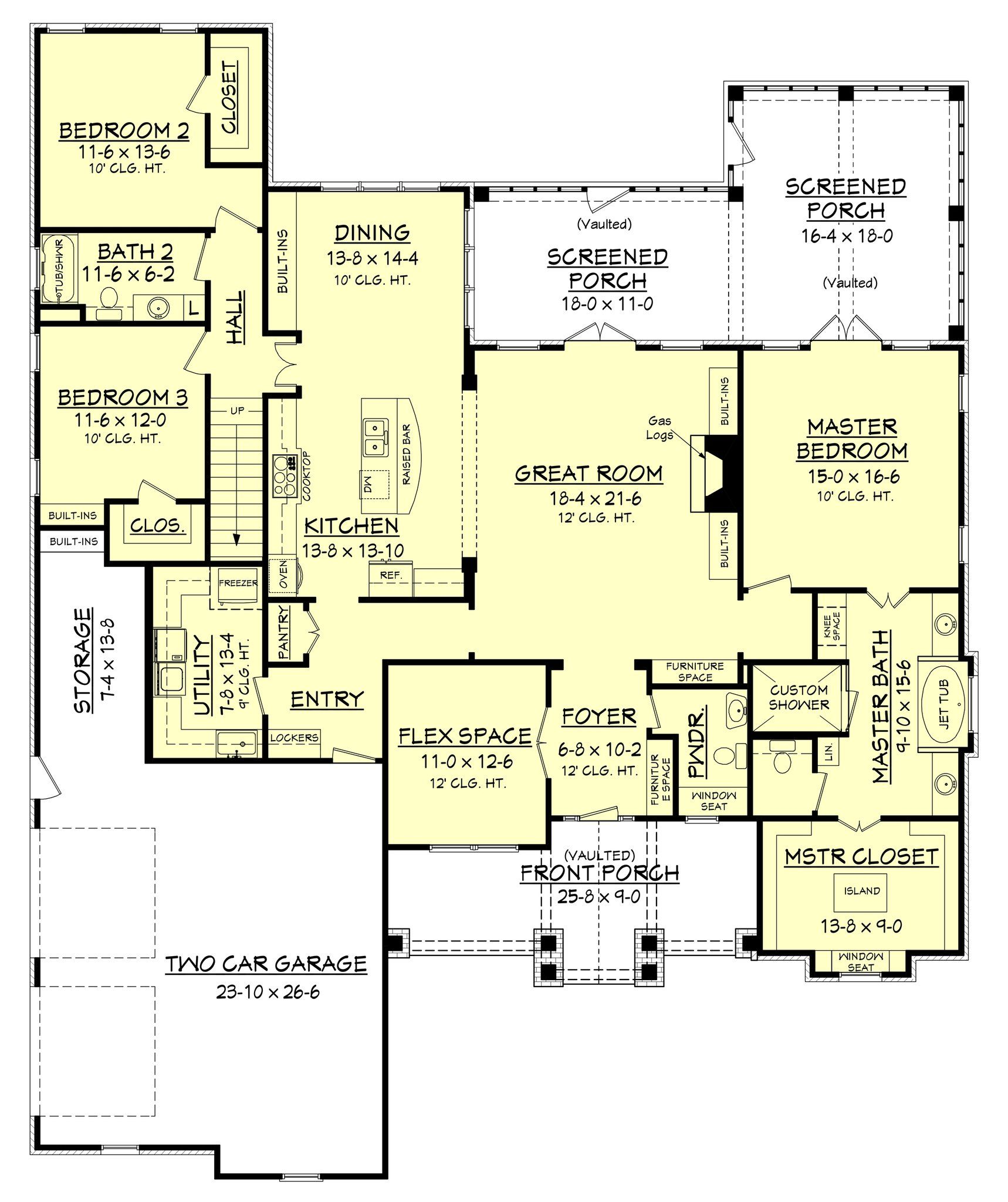 keystone house plan met bedrooms and spaces