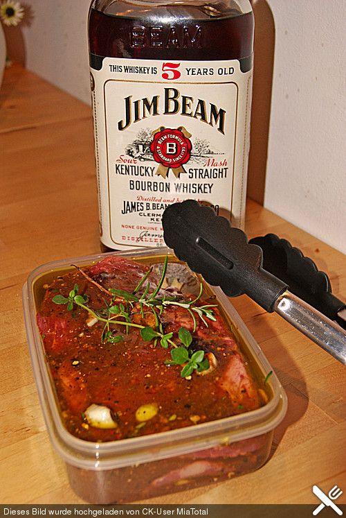 Whiskey Honig Senf Marinade Für Schweinefleisch Und Rindfleisch