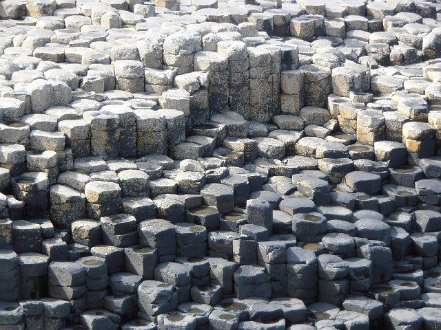 Natural Stone Structure : Natural hexagonal shaped stones giant s causeway county