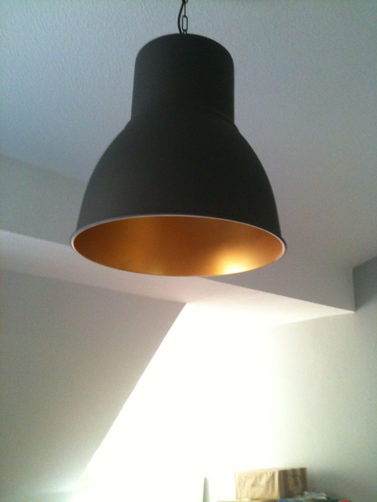 Ikea Hektar Pendant Interior Painted Gold Ice Cream Lampen