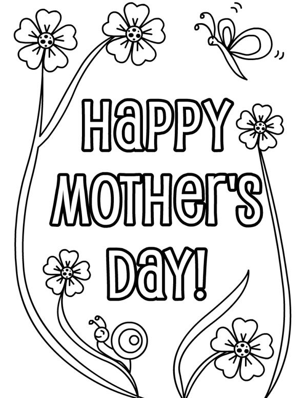 Happy Mothers Day Coloring Pages Free http://letmehit.com