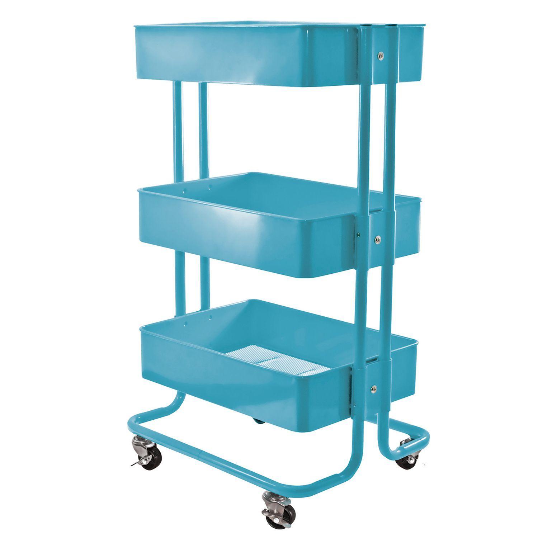 Ikea Blue Cart - House Beautiful - House Beautiful
