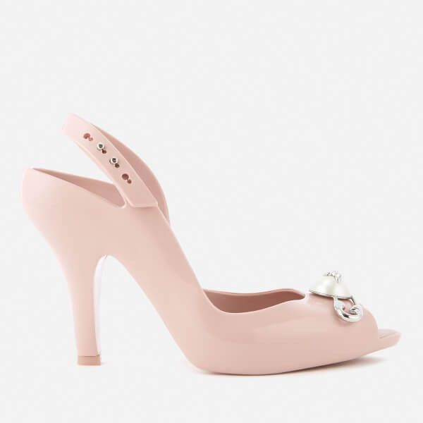 Vivienne Westwood for Melissa Women's Lady Dragon 19 Heeled Sandals -... (790 QAR) ❤ liked on Polyvore featuring shoes, sandals, pink, pink shoes, melissa footwear, pink high heel sandals, melissa sandals and peep toe heeled sandals