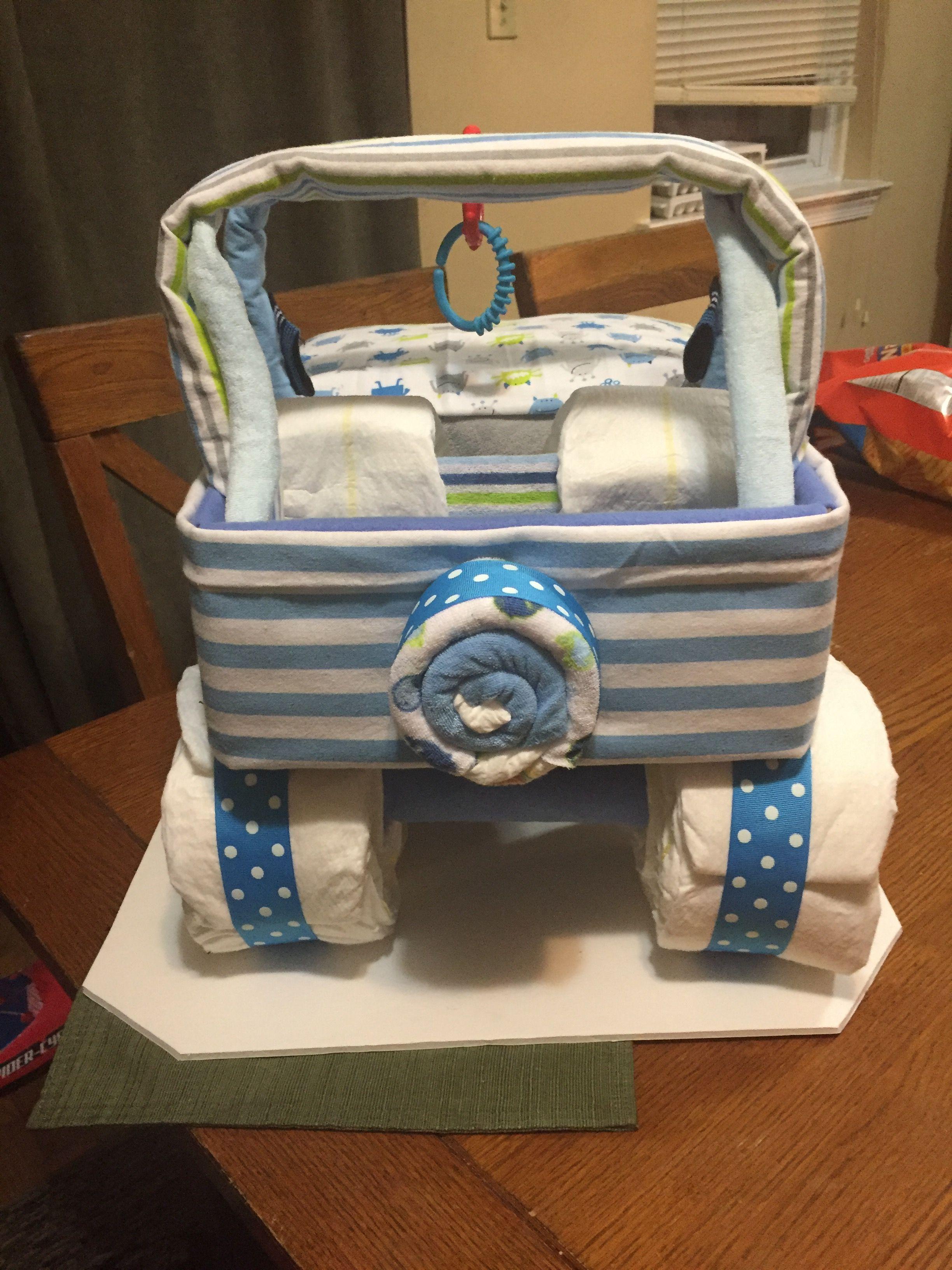 jeep diaper cake diy