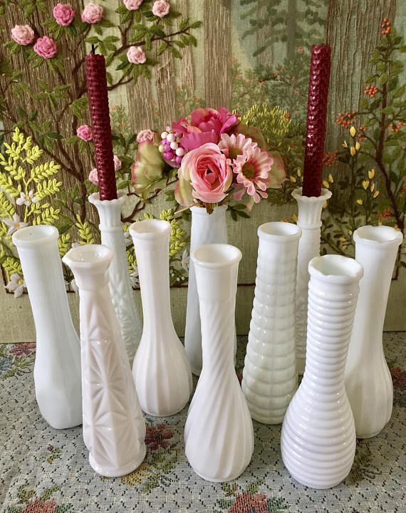 Milk Glass Vases Wedding Centerpiece Vases For Wedding Vases Vintage