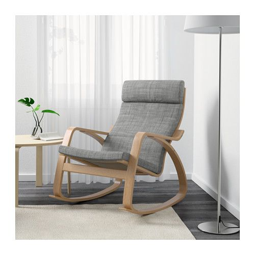 Po ng rocking chair isunda grey oak veneer ikea oh - Rocking chair confortable ...