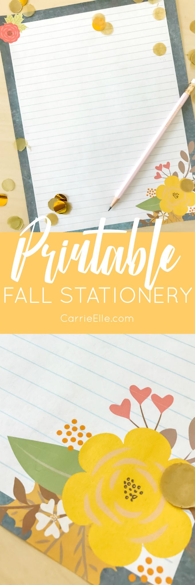 Letter Writing Challenge  Printable Fall Stationery  Writing