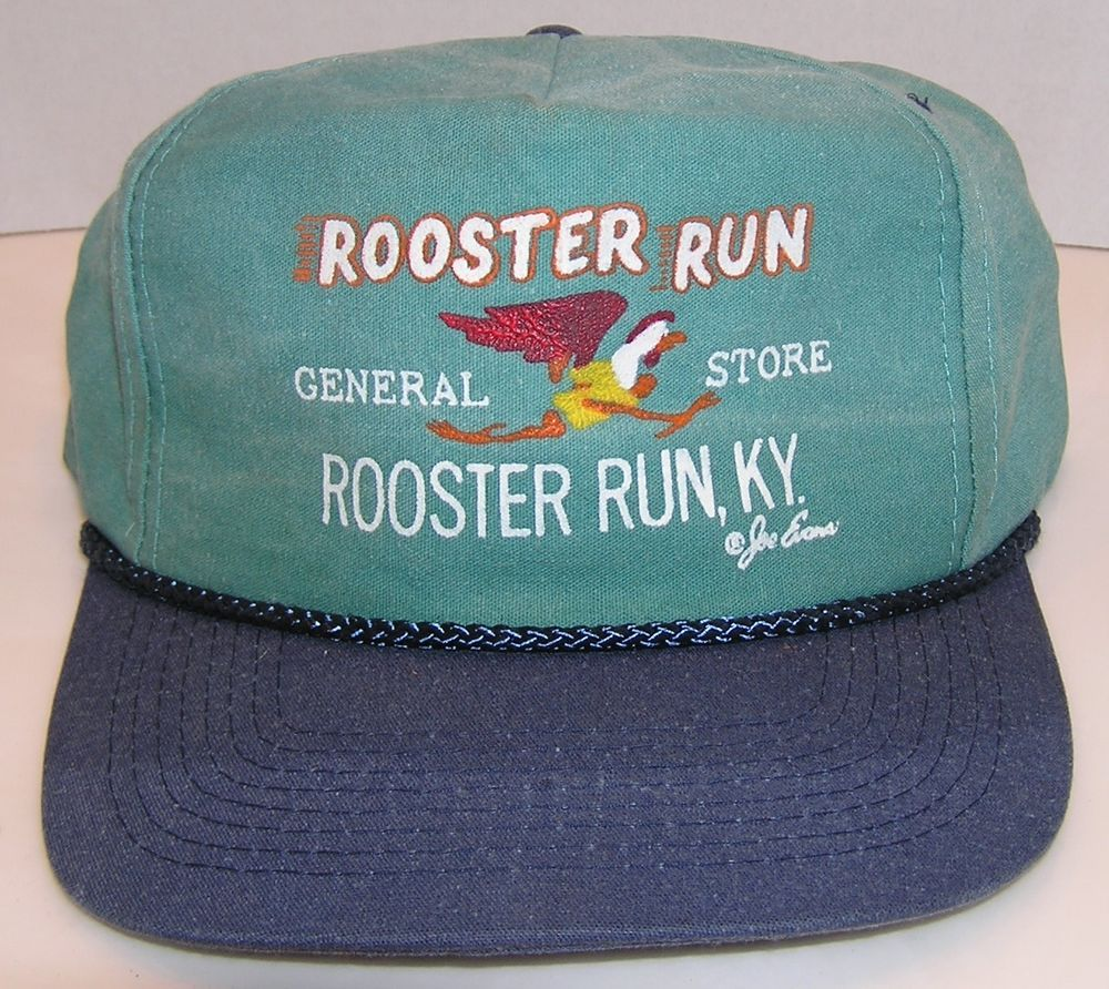super popular 144e7 142ab ROOSTER RUN General Store Rooster Run Ky. Vintage 80 s Baseball Snapback Hat   AttractiveHeadwear  BaseballCap
