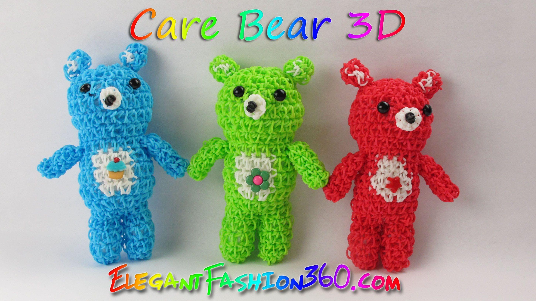 Rainbow Loom Bears/Care Bears/Teddy Bears 3D Charms - How to Loom ...