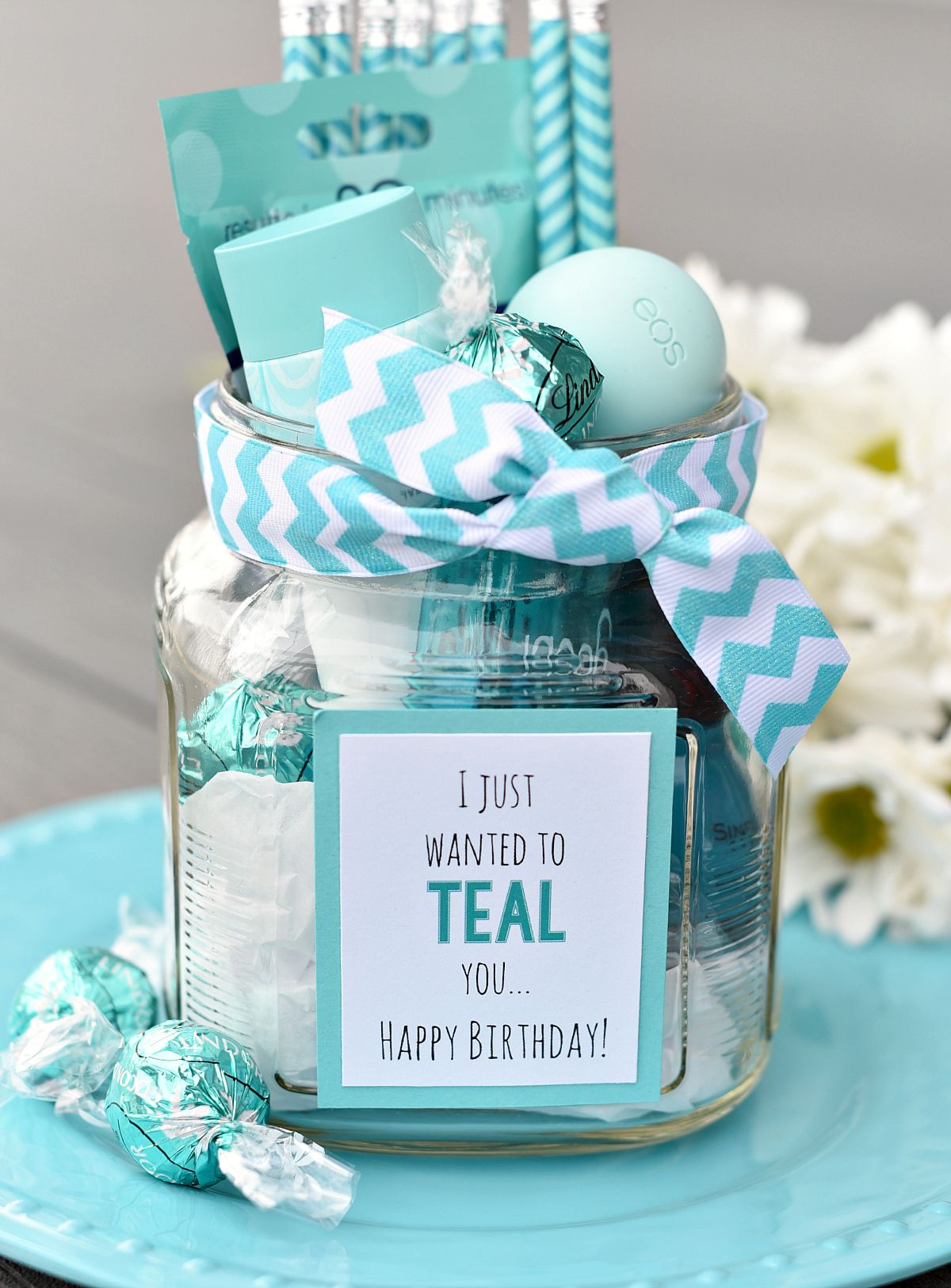 Teal Birthday Gift Idea For Friends Cheer Up Gifts