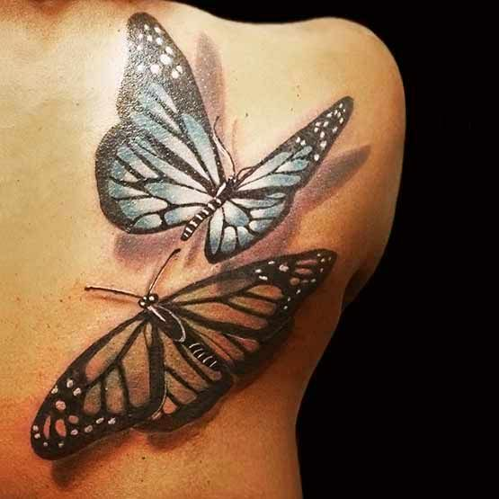 Photo of most beautiful butterfly tattoos for women | Butterfly Tattoos With Beautiful Me…