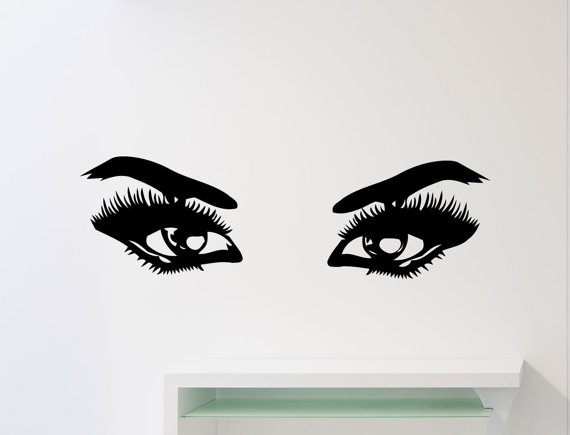 Beautiful Girl Eyes Wall Decal Make Up Fashion Beauty Salon Vinyl Sticker Home Interior Decoration Waterproof & Beautiful Girl Eyes Wall Decal Make Up Fashion Beauty Salon Vinyl ...