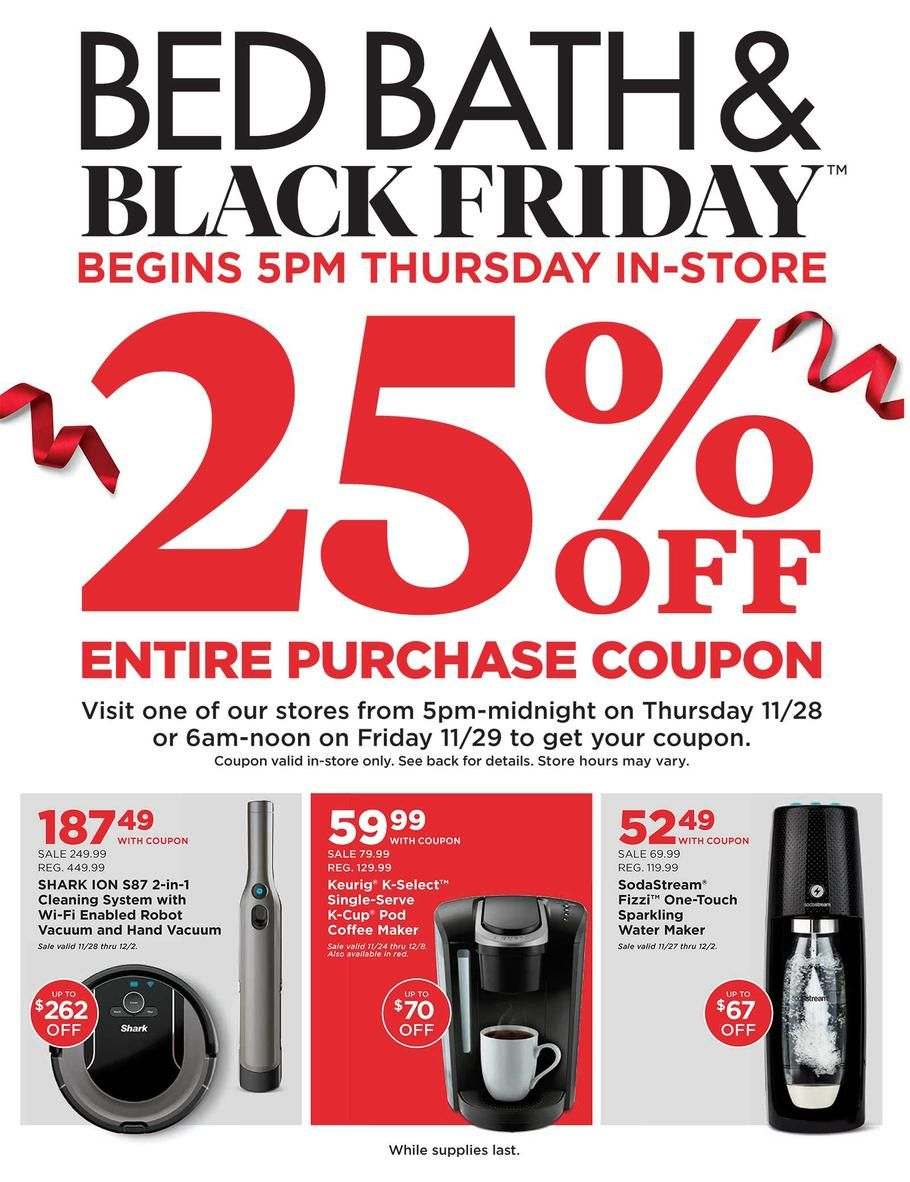 Bed Bath and Beyond Black Friday Ad Scan, Deals and Sales